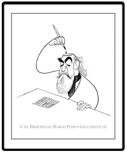 © Al Hirschfeld. Self-Portrait As An Inkwell. Reproduced by arrangement with the Margo Feiden Galleries Ltd., New York.