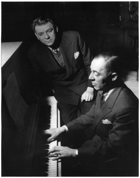Oscar Hammerstein II (L) and Richard Rodgers (R) (photo courtesy of Rodgers & Hammerstein: An Imagem Company, www.rnh.com)