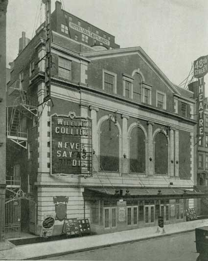 48th Street Theatre - Circa 1912, courtesy of The Shubert Archive.