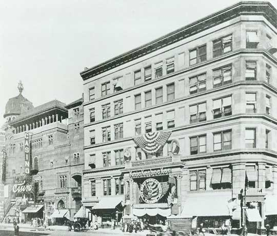 Knickerbocker Theatre - Circa 1909. Bill Morrison collection, courtesy of the Shubert Archive.