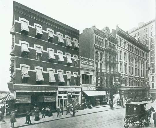 Bijou Theatre - Circa 1909, Bill Morrison collection, courtesy of The Shubert Archive.