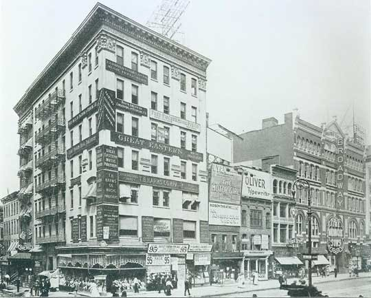 Broadway Theatre - Circa 1909, Bill Morrison collection, courtesy of The Shubert Archive.