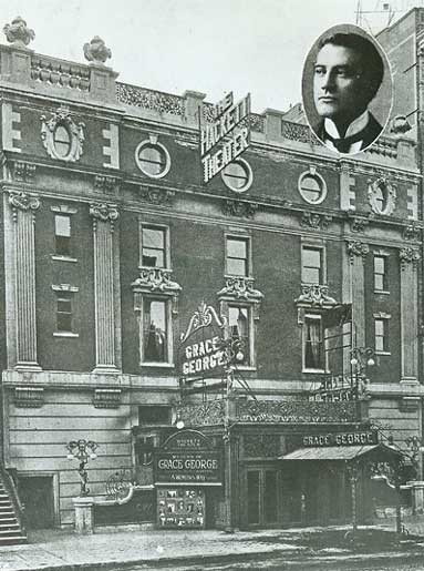 Anco Cinema - Circa 1912, Bill Morrison collection, courtesy of The Shubert Archive. The man in the picture in the top-right corner is most likely James K. Hackett.