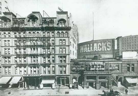 Wallack's Theatre - Circa 1910. Bill Morrison collection, courtesy of the Shubert Archive.
