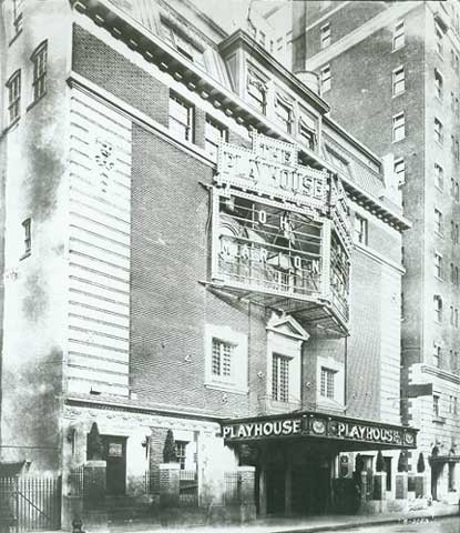 Playhouse Theatre - Circa 1921, Bill Morrison collection, courtesy of the Shubert Archive.