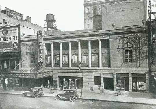 Times Square Theatre - Circa 1920. Bill Morrison collection, courtesy of the Shubert Archive.