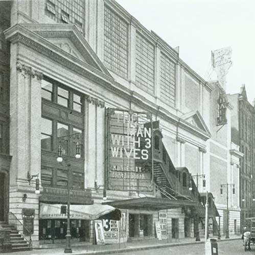 44th Street Theatre - Circa 1913. Bill Morrison collection, courtesy of the Shubert Archive.