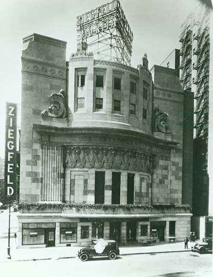 Ziegfeld Theatre - Circa 1927. Bill Morrison collection, courtesy of the Shubert Archive.